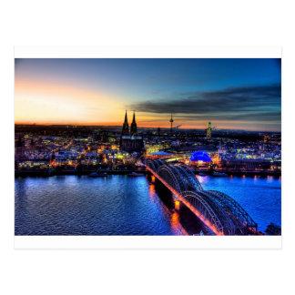 Carte Postale Horizon de Cologne Allemagne