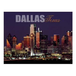Carte Postale Horizon de Dallas, le Texas