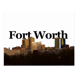 Carte Postale Horizon de Fort Worth TX avec Fort Worth dans le