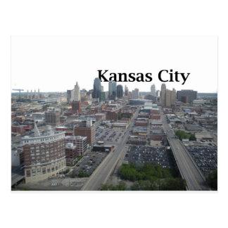Carte Postale Horizon de Kansas City avec Kansas City dans le