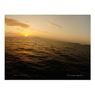 Carte Postale Horizon de la Grèce, mer Égée au lever de soleil 2