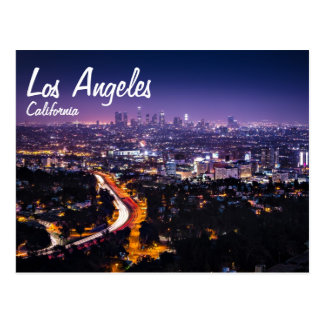 Carte Postale Horizon de Los Angeles, la Californie la nuit