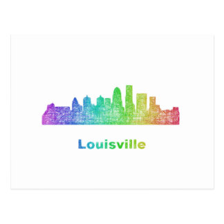 Carte Postale Horizon de Louisville d'arc-en-ciel