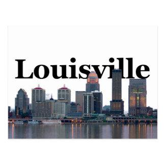 Carte Postale Horizon de Louisville KY avec Louisville dans le