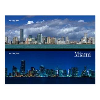 Carte Postale Horizon de Miami en 2006 et 2010