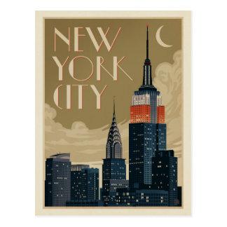Carte Postale Horizon de New York City