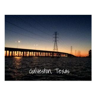 Carte Postale Horizon de nuit de Galveston