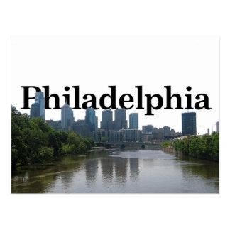 Carte Postale Horizon de Philadelphie - avec Phil. dans le