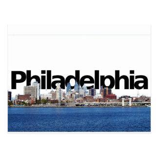 Carte Postale Horizon de Philadelphie avec Philadelphie dans le