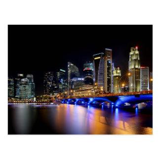 Carte Postale Horizon de Singapour et le pont d'esplanade