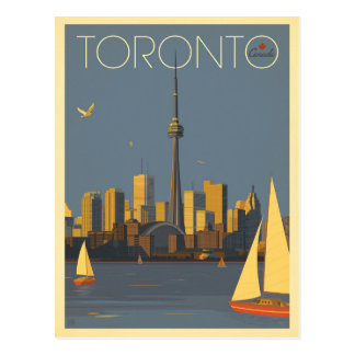 Carte Postale Horizon de Toronto, Canada | avec des voiliers