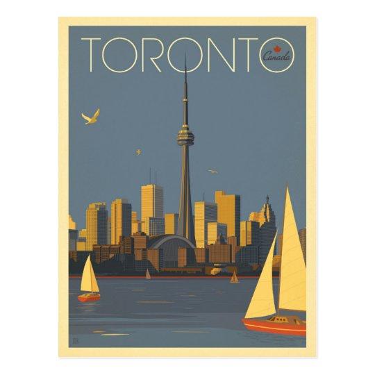 Carte Postale Horizon de Toronto, Canada   avec des voiliers   Zazzle.fr