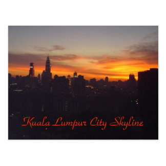 Carte Postale Horizon de ville de Kuala Lumpur