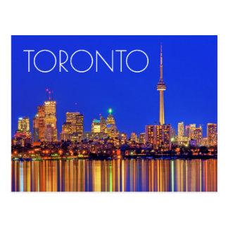 Carte Postale Horizon du centre de Toronto la nuit