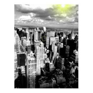 Carte Postale Horizon noir et blanc de New York City