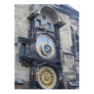 Carte Postale horloge de Prague