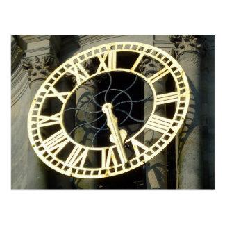 Carte Postale Horloge d'hôtel de ville. Cardiff, Pays de Galles,