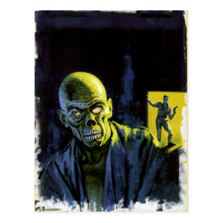 Carte Postale Horreur vintage de monstre de zombi de Halloween