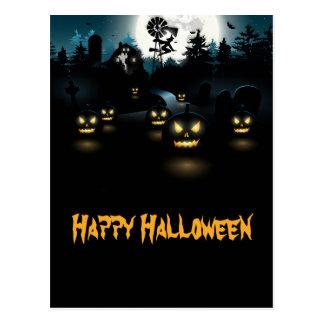 Carte postale horrible de Halloween