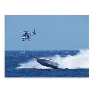 Carte Postale Hors-bord et hélicoptère aéroportés