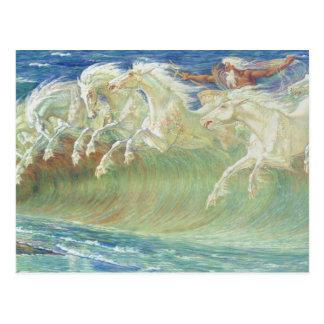 Carte Postale Horses On du Roi Neptune la plage