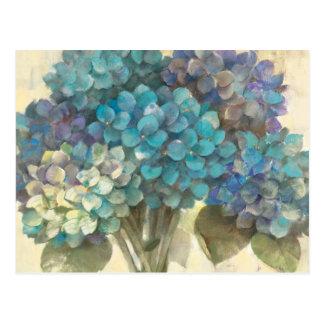 Carte Postale Hortensia de turquoise