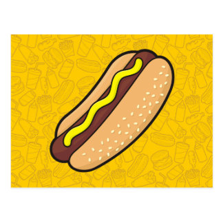 Carte Postale Hot dog