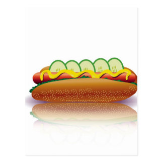 Carte Postale hot-dog