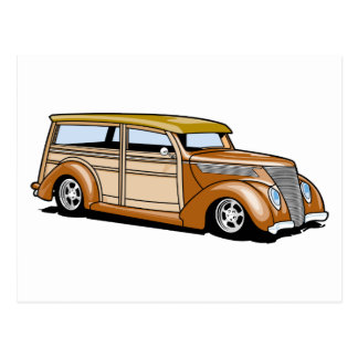 Carte Postale Hot rod Woodie