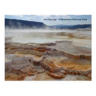 Carte Postale Hot Springs en parc national Etats-Unis de