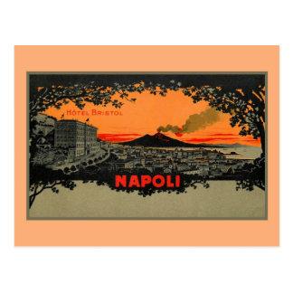 Carte Postale Hôtel antique Bristol Naples Napoli de litho de