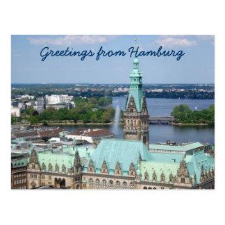 Carte Postale Hôtel de ville de Hambourg