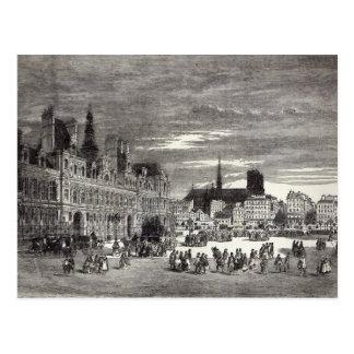 Carte Postale Hotel de Ville, Paris, 1847