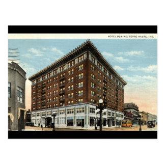 Carte Postale Hôtel Deming, Terre Haute, Indiana 1933