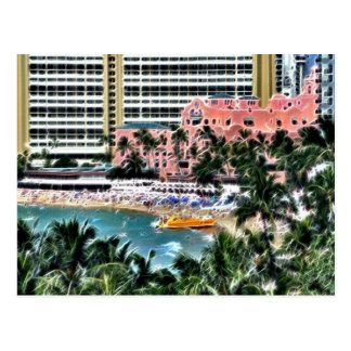 Carte Postale Hôtel hawaïen royal, Honolulu, Hawai'i
