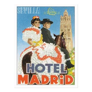 Carte Postale Hôtel vintage de Séville Espagne