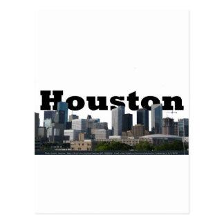 Carte Postale Houston, horizon de TX avec Houston dans le ciel
