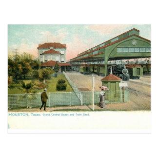 Carte Postale Houston le Texas circa la station 1905 centrale