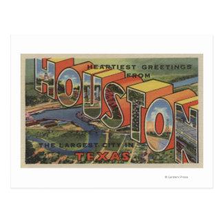 Carte Postale Houston, le Texas - grandes scènes 2 de lettre
