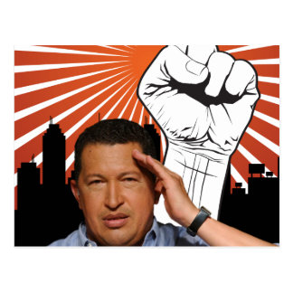 Carte Postale Hugo Chavez - Hugo salue le style