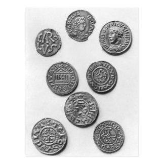 Carte Postale Huit pièces de monnaie de Carolingian