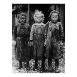 Carte Postale Huître Shuckers, les années 1900 tôt de jeune