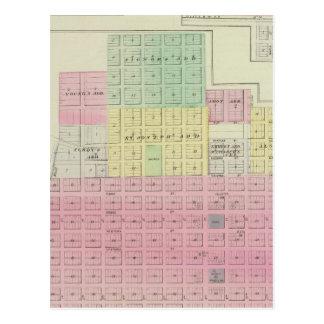 Carte Postale Humboldt, ville de Moran, et Laharp, le Kansas