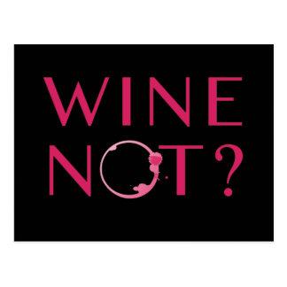 Carte Postale Humour d'amateur de vin du vin non  