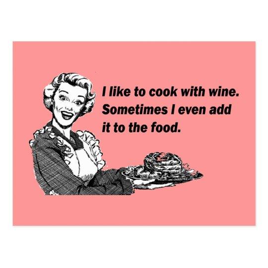 Carte postale humour de chef et de cuisinier cuisine for Cuisinier humour