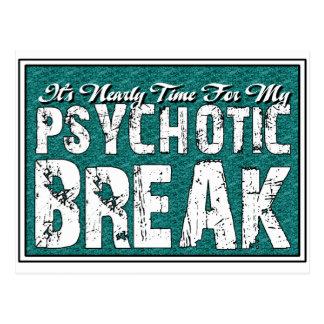 Carte Postale Humour de santé psychotique et mentale