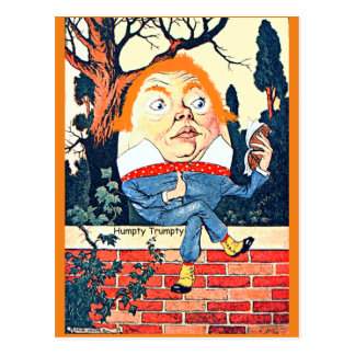 Carte Postale Humpty Dumpty Illustr vintage changé par Donald