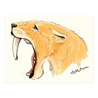 Carte Postale Hurlement de Smilodon