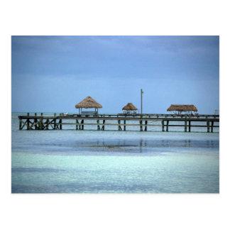Carte Postale Huttes de dock de Belize