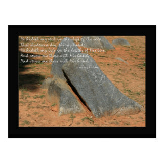 Carte Postale Hymne par Fannie Crosby il hideth mon âme